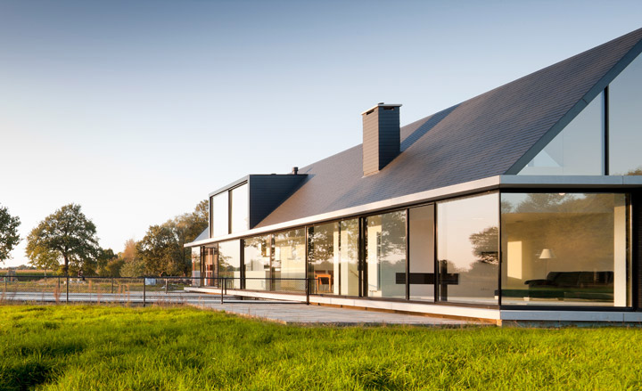 Modern House Villa Geldrop Holland by Hofman Dujardin